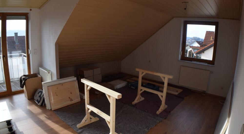Einbau eines neuen Schlafzimmers